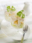 Egg salad in glass — Stockfoto
