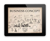 Tablet personal and business concepts on the screen — Stock Photo