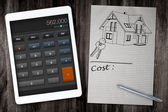 Home construction cost calculator — Stock Photo