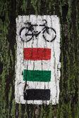 Bike trail — Stock Photo