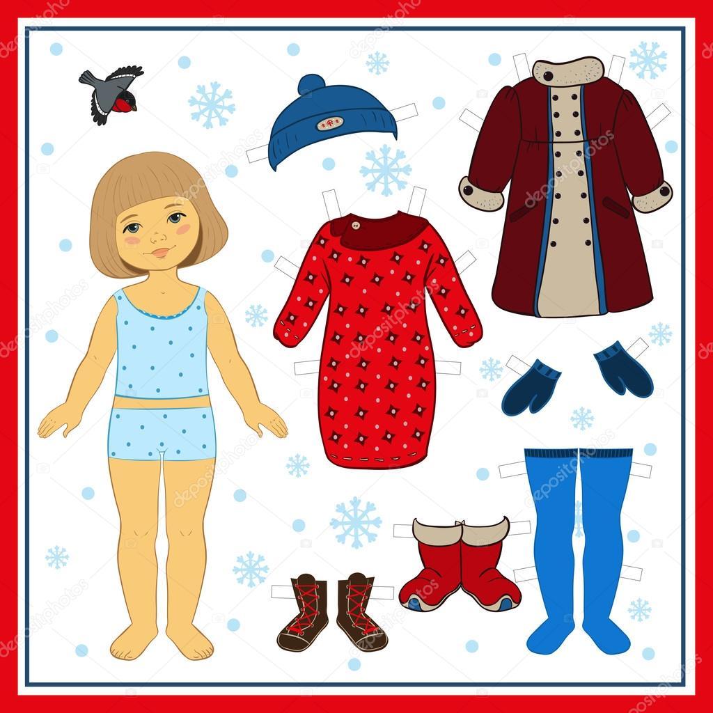 Одежда для кукол рисунок