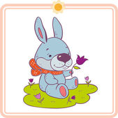 Cartoon  little rabbit  — Stock Vector
