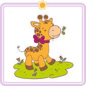 Cartoon little giraffe — Stock Vector