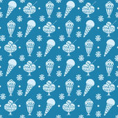 Pattern with ice cream — Vector de stock