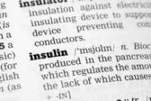 Insuline woordenboekdefinitie — Stockfoto