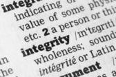 Integrita slovníku definice — Stock fotografie