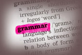 Grammar Dictionary Definition — 图库照片