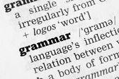 Grammar Dictionary Definition — Stock Photo