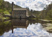 Gibson Mill in Hardcastle Crags nature park, — Stock Photo