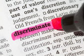 Discriminate  Dictionary Definition — Stock Photo