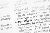 Education  Dictionary Definition — Stock Photo