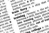 Training Dictionary Definition — Stockfoto