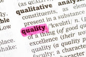 Quality Dictionary Definition — Stock Photo