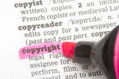 Copyright Dictionary Definition — Stock Photo