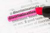Discrimination  Dictionary Definition — Stock Photo