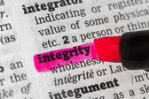 Integrity  Dictionary Definition — Stock Photo
