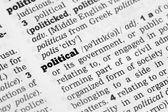 Politiska ordbokens definition — Stockfoto