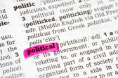 Political  Dictionary Definition — Stock Photo