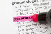 Grammar Dictionary Definition — Stock Photo