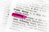 Training Dictionary Definition — Stock Photo