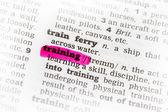 Training Dictionary Definition — Stock Photo