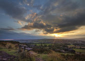 Sunset over Norland moor — 图库照片