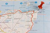 John o' Groats on map — Stock Photo