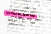 Communication  Dictionary Definition — Stock Photo