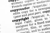 Copyright Dictionary Definition — 图库照片