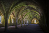 Cellarium  Fountains Abbey — Stock Photo