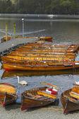 Boats on the lake — Stockfoto
