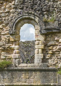 Fountains Abbey arch window — Stock Photo