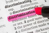 Discrimination  Dictionary Definition — Stock Photo