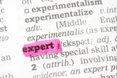 Expert Dictionary Definition — Stock Photo
