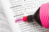 Value Dictionary Definition — Stock Photo