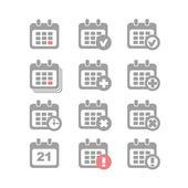 Calendar icons set vector — Stock Vector
