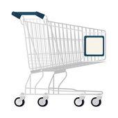 Empty shopping cart — Stock Vector