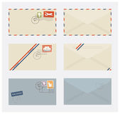 Envelopes with stamps — Stock vektor