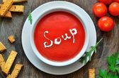 Tomatoe soupe — Stock Photo