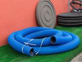 Blue thick hose — Foto de Stock