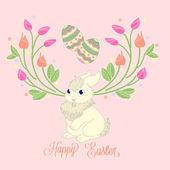 Glad påsk bunny kort — Stockvektor