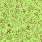 Exotic fruit seamless pattern — Stock Vector