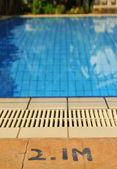 Swimming pool depth — Foto de Stock