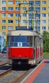трамвай в праге, чешская республика — Стоковое фото