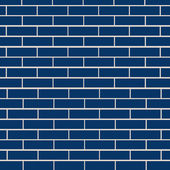 Blue brick wall vector — Stock Vector