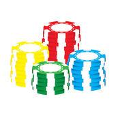 Poker chips vector — Stock Vector