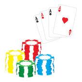 Poker objekty — Stock vektor