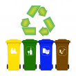 Garbage containers for recycling — Stock Vector #51189411