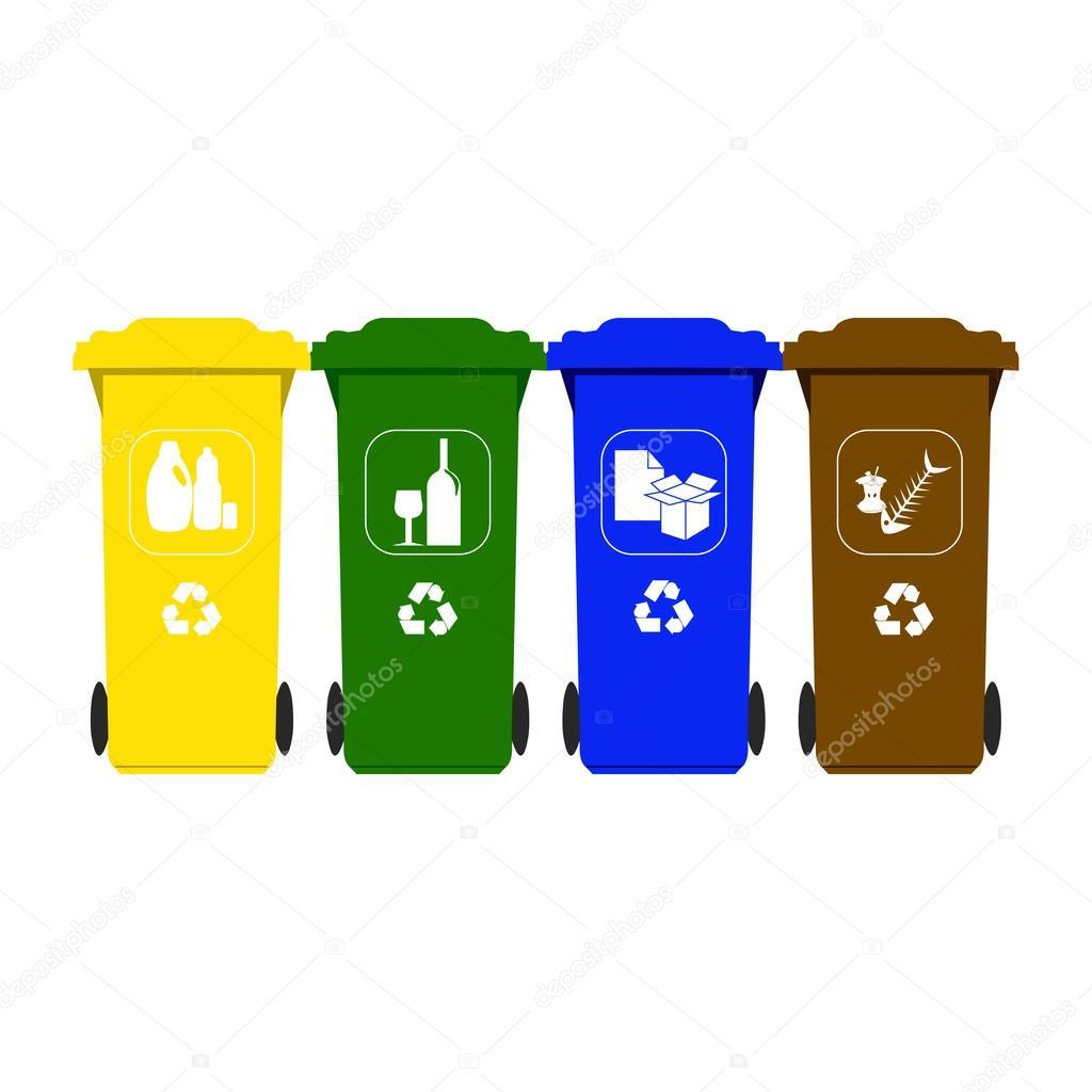 Contenedores de basura para el reciclaje vector de stock - Contenedores de reciclar ...