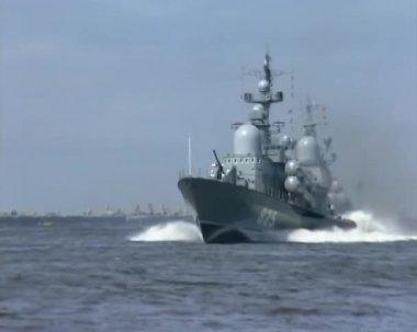 Naval parade in Baltysk (2003) -05 — Stock Video